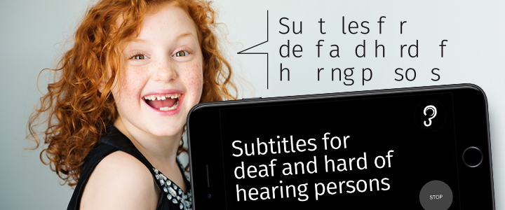 captioning for people with hearing loss